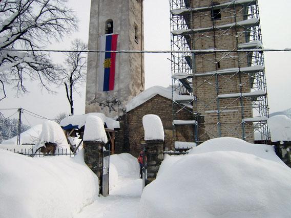 Живот у Епархији будимљанско-никшићкој током незапамћеног снијежног невремена